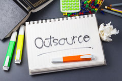 Outsource royalty free stock photography