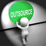 Outsource Pressed Means Freelancer Or Independent Worker Stock Images