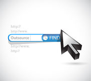 Outsource search online illustration design Royalty Free Stock Photo