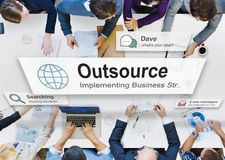 Outsource Task Contract Work Supplier Concept stock images