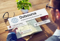 Outsource Task Contract Work Supplier Concept Royalty Free Stock Images