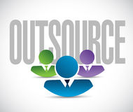 Outsource team sign illustration design graphic Royalty Free Stock Photos