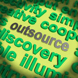 Outsource Word Means Hiring Independent Worker Royalty Free Stock Photos