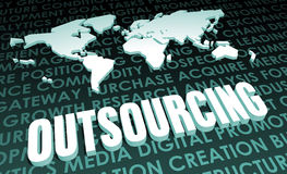 outsourcing Stockfoto