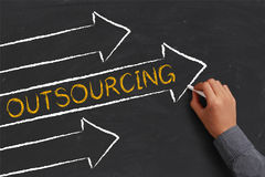 Outsourcing Abstract Royalty Free Stock Photo