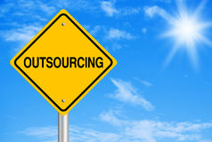 Outsourcing Abstract Royalty Free Stock Photography