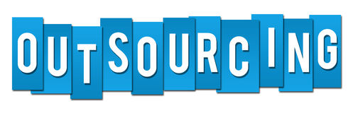 Outsourcing Blue Stripes Royalty Free Stock Image