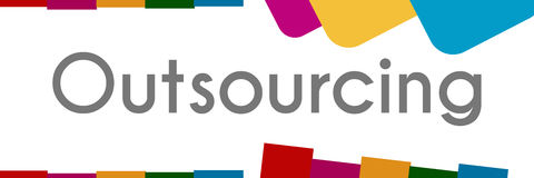 Outsourcing Colorful Abstract Shapes Stock Photos
