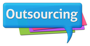 Outsourcing Colorful Comment Symbol Stock Photo