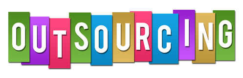 Outsourcing Colorful Stripes Stock Image