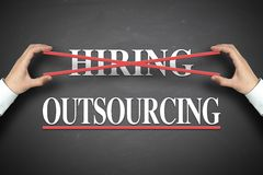 Outsourcing concept Royalty Free Stock Photo