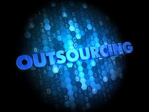 Outsourcing Concept on Digital Background. Royalty Free Stock Photos