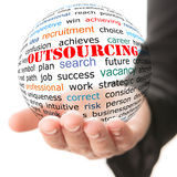 Outsourcing concept Royalty Free Stock Image