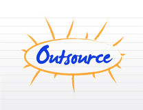 Outsourcing concept illustration Royalty Free Stock Image