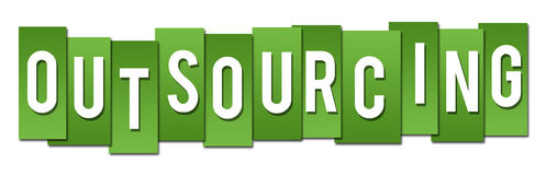 Outsourcing Green Stripes Stock Images