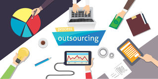 Outsourcing Hiring Outsource. Outsourc digital design, eps 10. overhead illustration. vector-stock. vector illustration
