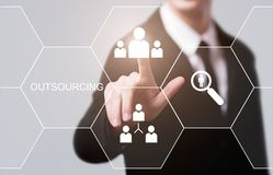 Outsourcing Human Resources Business Internet Technology Concept royalty free stock photos