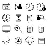 Outsourcing and remote work vector icons Royalty Free Stock Photography