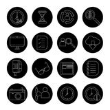 Outsourcing and remote work vector icons Stock Image
