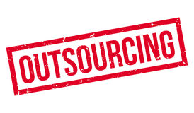 Outsourcing rubber stamp Stock Image