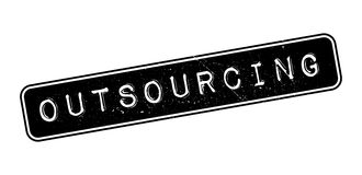 Outsourcing rubber stamp Royalty Free Stock Photography
