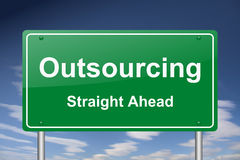 Outsourcing sign Royalty Free Stock Photos