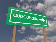 Outsourcing sign Royalty Free Stock Photography