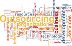 Outsourcing  word cloud Royalty Free Stock Photography