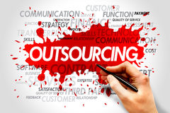 Outsourcing. Word cloud, business concept Stock Photography