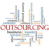 Outsourcing word cloud concept royalty free illustration