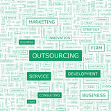 OUTSOURCING royalty free illustration