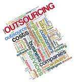 Outsourcingmarken Stockfoto