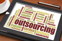 Outsourcingwortwolke Lizenzfreie Stockbilder