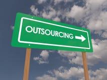 Outsourcingzeichen Lizenzfreie Stockfotografie