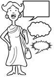 Outspoken Woman - black and white Royalty Free Stock Photo