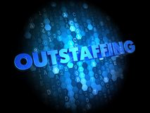 Outstaffing Concept on Digital Background. Royalty Free Stock Images