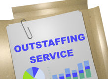 Outstaffing Service - business concept. 3D illustration of OUTSTAFFING SERVICE title on business document Royalty Free Stock Photo