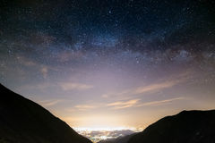 The outstanding beauty and clarity of the Milky Way Royalty Free Stock Images