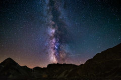 The outstanding beauty and clarity of the Milky Way Royalty Free Stock Photos
