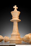 Outstanding Concept in Business, Chess 3D Rendering Royalty Free Stock Image