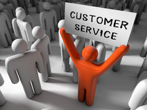 Outstanding customer service Royalty Free Stock Photos