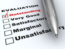 Outstanding evaluation Royalty Free Stock Photo
