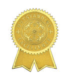 Outstanding Excellence Seal. Gold Excellence Seal With Ribbons Isolated on White Background Royalty Free Stock Photos