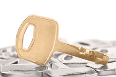 Outstanding Golden key Royalty Free Stock Photography