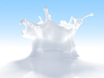 Outstanding milk splash Royalty Free Stock Photography