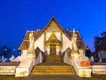 Outstanding Northern style Thai art of Wat Phu Mintr, Thailand Stock Photo