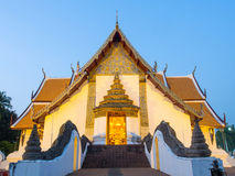 Outstanding Northern style Thai art of Wat Phu Mintr, Thailand Royalty Free Stock Photography
