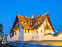 Outstanding Northern style Thai art of Wat Phu Mintr, Thailand Stock Photography