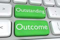 Outstanding Outcome concept Stock Photo
