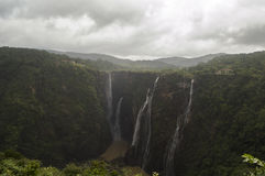 The outstanding and ravishing beautiful gigantic jog falls Royalty Free Stock Photography